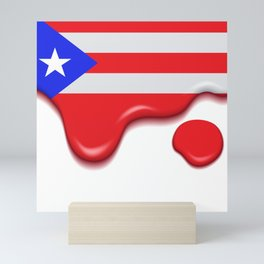 Drip Puerto Rican Flag Mini Art Print