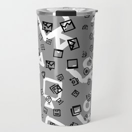 pattern with symbols of photos and videos Travel Mug