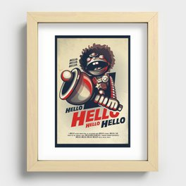 HELLO! HELLO! (white) Recessed Framed Print