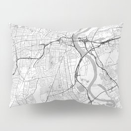 Hartford Map Line Pillow Sham