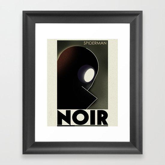 CASSANDRE SPIRIT - Spidey Noir Framed Art Print