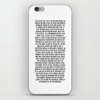hamlet iPhone & iPod Skins featuring Hamlet by ChandlerLasch