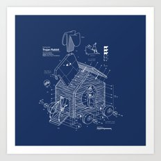 Trojan Rabbit Art Print