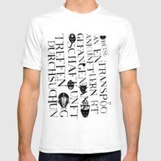 We face the Type! White Mens Fitted Tee SMALL