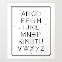 font Art Prints featuring Craft Font by neuprouns