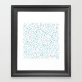 Crystal pattern Framed Art Print