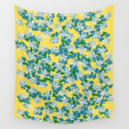 Summer Flowers Yellow Wall Tapestry