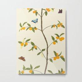 Jenny Chinoiserie Kumquat Metal Print