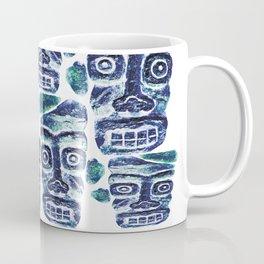 Tribal Face Pattern Coffee Mug