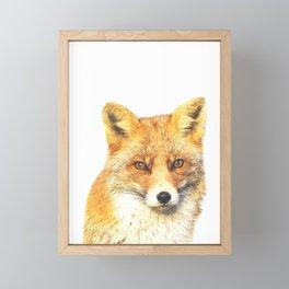 Fox Portrait Framed Mini Art Print