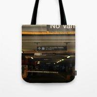 vans Tote Bags featuring No Vans by Stephane Rangaya