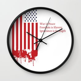 """""""Today's Oceania"""" Inspired by George Orwell's 1984 Wall Clock"""