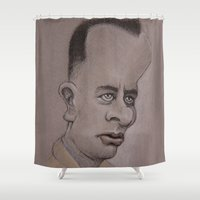 forrest Shower Curtains featuring Forrest by chadizms