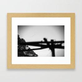 as the crow flies. Framed Art Print