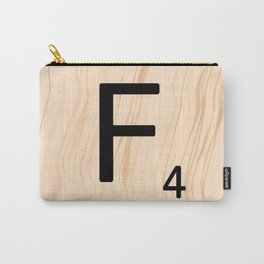 Letter F - Scrabble Art Carry-All Pouch