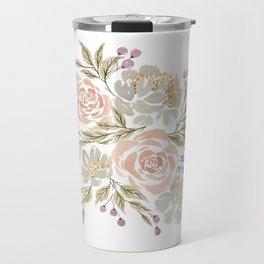 'Carolina' Floral Watercolor Artwork -- BiotaDrawings Travel Mug
