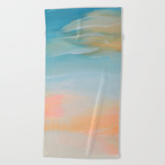 Fresh Colors Painterly Abstract Beach Towel