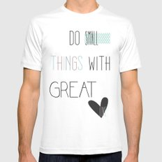 Do small things, typography, quote, inspiration Mens Fitted Tee White MEDIUM