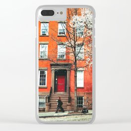Brooklyn in the Springtime Clear iPhone Case