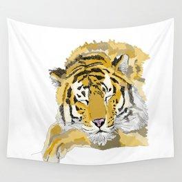 Sleepy Tiger Wall Tapestry