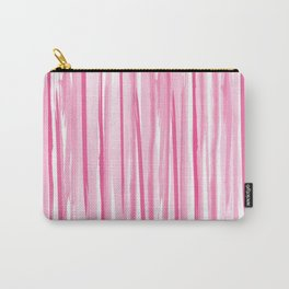 Pink watercolor stripes pattern Carry-All Pouch