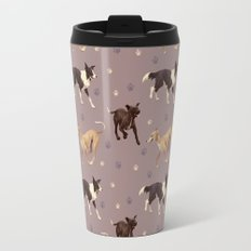 Rescue Dogs Pattern Travel Mug