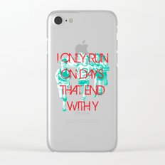 Running Days Clear iPhone Case