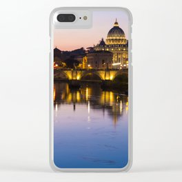 Dusk Over the Tiber Clear iPhone Case