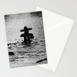 Inukshuk in Saint Élie de Caxton Stationery Cards