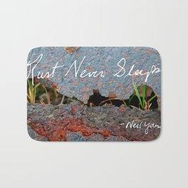 Rust Never Sleeps Bath Mat