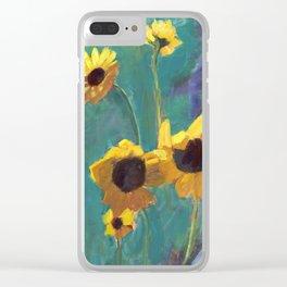 Wildflower fields Clear iPhone Case