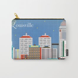 Louisville, Kentucky - Skyline Illustration by Loose Petals Carry-All Pouch