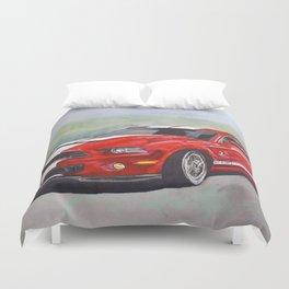 Red Cobra Duvet Cover