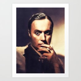Charles Boyer, Vintage Actor Art Print