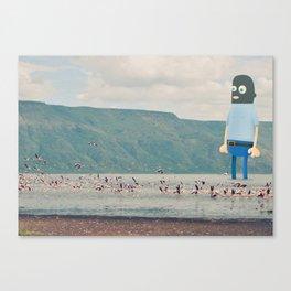 Self portrait in balaclava Canvas Print