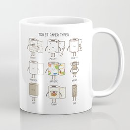 toilet paper types Coffee Mug