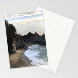 McWay Falls, Big Sur, CA, Sunset Stationery Cards