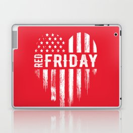 Red Friday Distressed USA Heart Military Laptop & iPad Skin