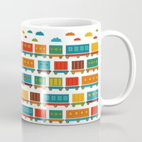 train Mugs featuring Train by Kakel