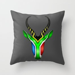South African Springbok Throw Pillow