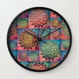 Abstract Petals Decoration Wall Clock