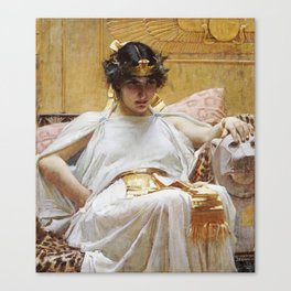 John William Waterhouse - Cleopatra Canvas Print