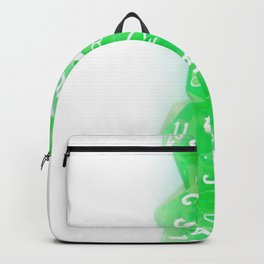 Green Gaming Dice Backpack