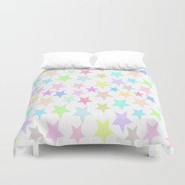 Pastel Stars Design Duvet Cover