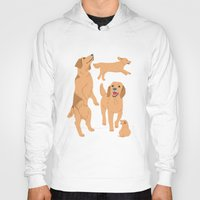 golden retriever Hoodies featuring Golden Retriever by Tomoko K