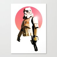 stormtrooper Canvas Prints featuring Stormtrooper by Skyfisher