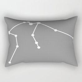 Aquarius (White & Gray) Rectangular Pillow