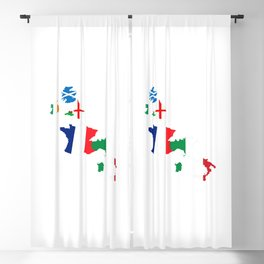 Map Of She Six Highest Ranked Rugby Teams Blackout Curtain