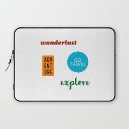 Travel Sticker Pack Laptop Sleeve