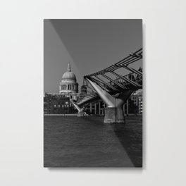 Millenium Bridge and St Pauls Cathedral Metal Print